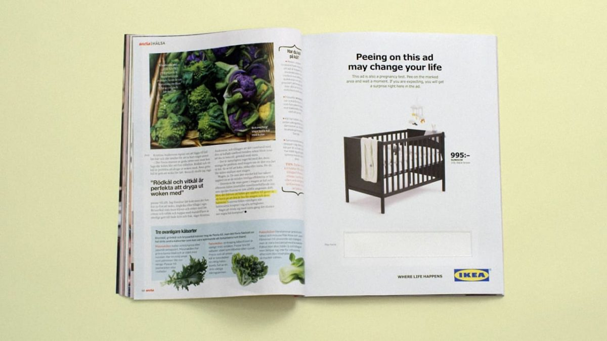 p 1 ikeas new ad is a pregnancy test women pee on 1200x675 - Ikea's New Ad Is A Pregnancy Test You Pee On. Really.