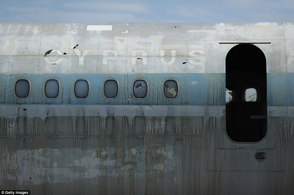 Planes stand frozen in time on runway of Cypriot airport