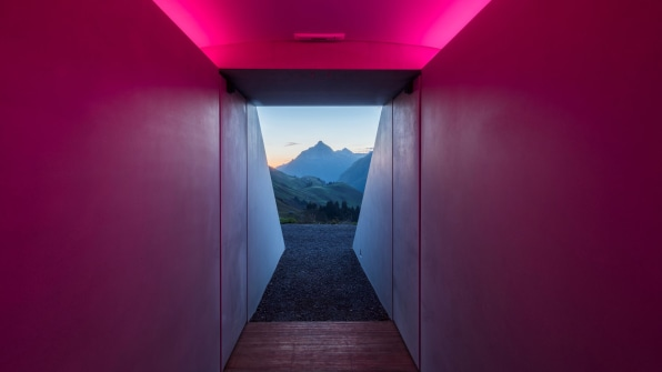 A look at the new James Turrell Skyspace in Lech, Austria
