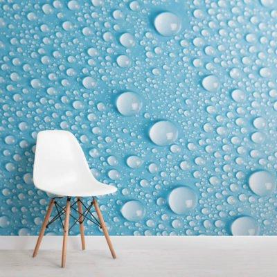 aqua dew drops textures square 400x400 - Brutalist Welbreck Street Mural Wallpaper - Murals Wallpaper