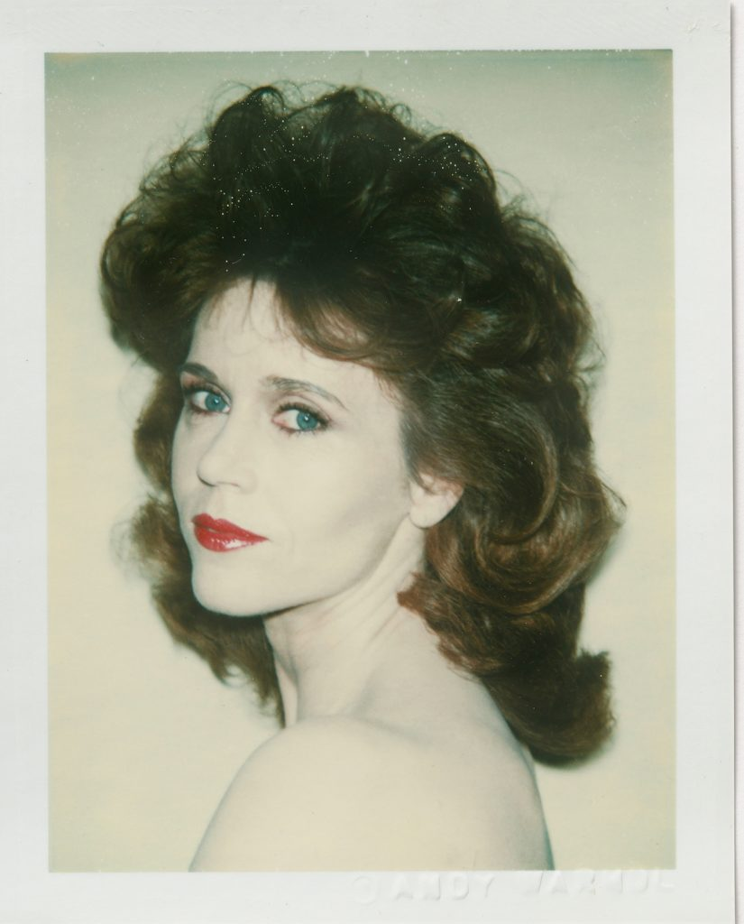 Andy Warhol Jane Fonda 1982 Polacolor 2 10.8 x 8.5 cm © 2018 The Andy Warhol Foundation for the Visual Arts Inc. Licensed by DACS London. Courtesy BASTIAN London 825x1024 - Andy Warhol's Polaroid Pictures – British Journal of Photography