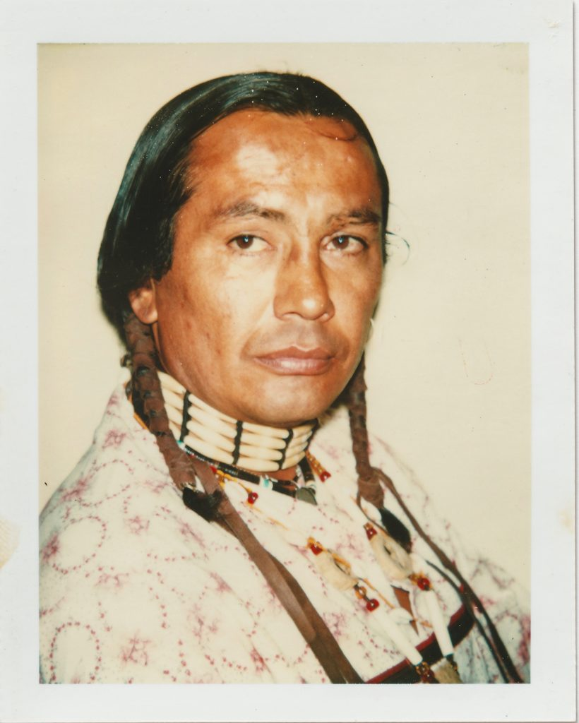 Andy Warhol The American Indian Russell Means 1976 Polacolor Type 108. © 2018 The Andy Warhol Foundation for the Visual Arts Inc. Licensed by DACS London. Courtesy BASTIAN London 820x1024 - Andy Warhol's Polaroid Pictures – British Journal of Photography