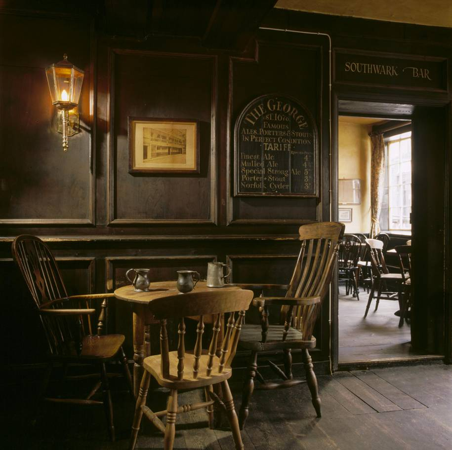 interior the george inn southwark cnational trust imagesmichael caldwell - Why is reading in the pub so enjoyable? In praise of a very British pastime