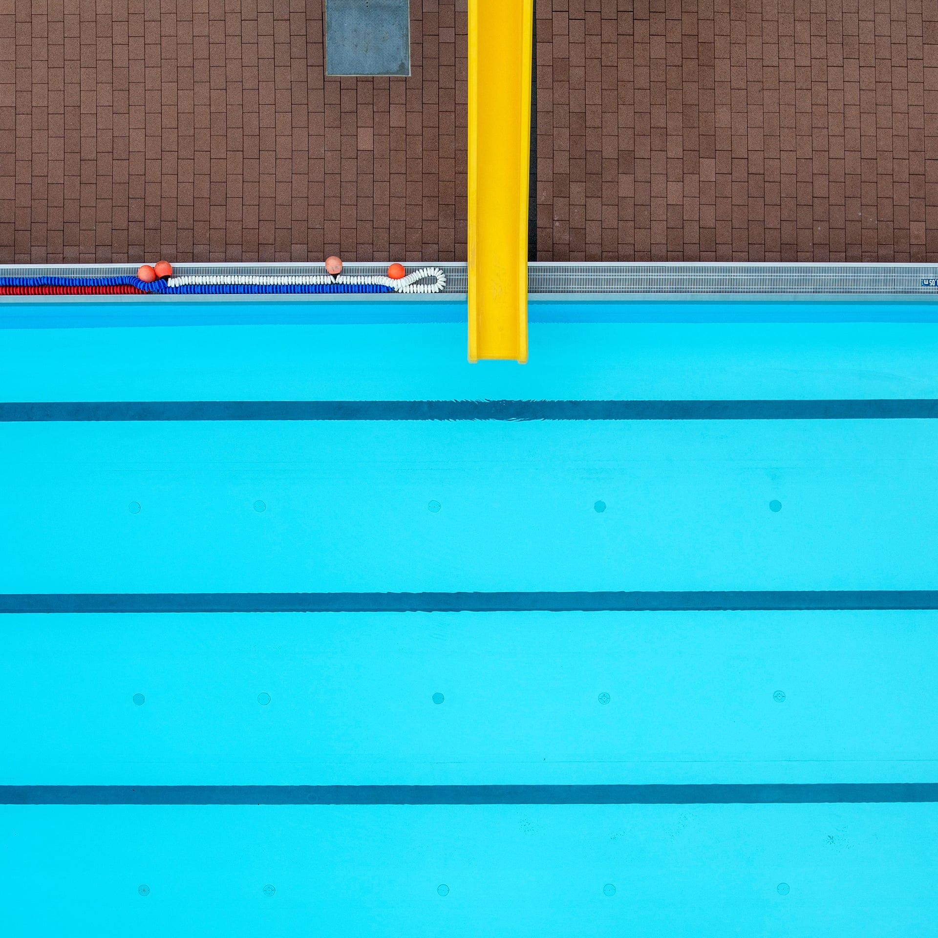 Dive in: aerial shots of German public swimming pools