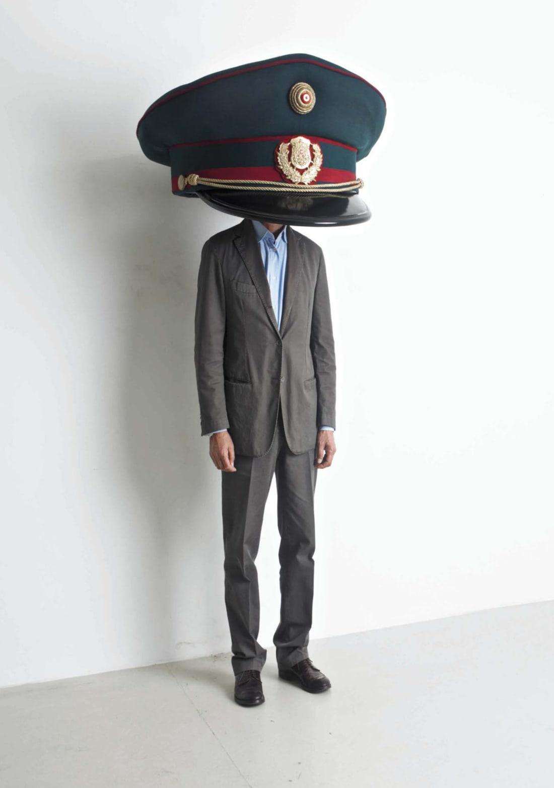 http3A2F2Fcdn.cnn .com2Fcnnnext2Fdam2Fassets2F190329120112 erwin wurm police cap - Inside Erwin Wurm's 'absurd' sculptures last just 60 seconds